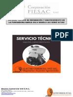 Informe Técnico de Reparación y Mantenimiento de La Fumigadora Marca Solo Modelo 423 Serie 927355