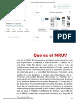 Que Es El MRUV _ Movimiento (Física) _ Velocidad