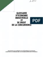 Ocde - Glossaire d Economie Industrielle Et de Droit de La Concurrence