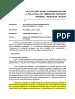 Infracción a Los Derechos de Propiedad Industrial - Modelo de Utilidad
