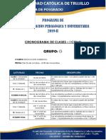 Cronograma de Actividades - Cpu 2019 - II - g
