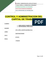 Control y Administracion Del Capital de Trabajo