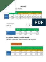 Calculos Lab de Fisicquimica II
