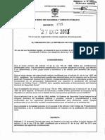 Decreto 3035 Del 27 de Diciembre de 2013