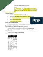 Negotiable Instruments Qanda Notes