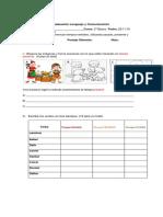 Evaluación Lenguaje y Comunicación TIEMPOS VERBALES 2 BASICO