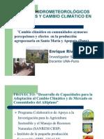 Cambio climático en comunidades Aymaras