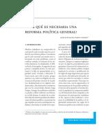 15. FEBRES-CORDERO, Jaime. ¿Por Qué Es Necesaria Una Reforma Política