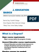 2016 ASCCC GE Basics Final