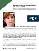 Ines Dussel Es Fundamental Incorporar en El Ambito Educativo Los Procesos de Memoria Verdad y Justicia
