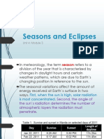 Seasons and Eclipses