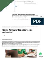 ¿Cómo Formular Los Criterios de Evaluación_ - Educrea