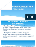 Dining Room Operations and Procedures