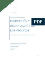 Produccion y Organizacion de Los Negocios