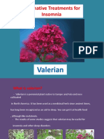 Fdocuments.us Alternative Treatments for Insomnia Valerian