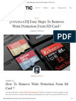 [UPDATED] Steps to Remove Write Protection From SD Card!