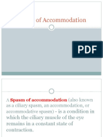 Spasm of Accommdation