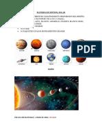 Materiales Sistema Solar