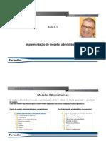 Implementacao de Modelos Administrativos