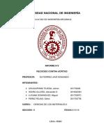 2019-II MC115 Informe 2 Ciencias de Los Materiales II FIM-UNI