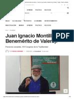 Juan Ignacio Montilla (Hijo Benemérito de Valera). • Diario de Los Andes, Noticias de Los Andes, Trujillo, Táchira y Mérida
