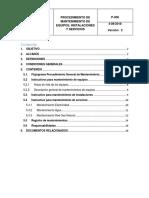 Procedimiento de Mantenimiento de Equipos, Instalaciones y Servicios