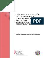 Guía Para La Elaboración de Los Estudios de Línea de Base de Proyectos Subvencionados Por La Generalitat 2017