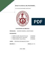2019-II MC214 Cuestionario de Embutido - Procesos de Manufactura II FIM - UNI
