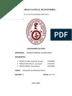 2019-II MC214 Cuestionario de Forja - Procesos de Manufactura II - 2019 II - FIM - UNI