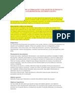 Guia Instructiva Para La Formulación y Evaluación de Un Proyecto de Inversión y Para La Elaboración Del Documento Escrito
