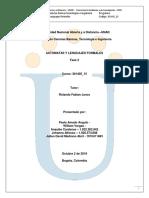 UNAD automatas y lenguajes formales fase 2
