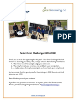 solar oven challenge package 2020