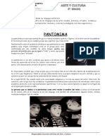 Ficha Arte Quinto- Pantomima