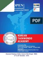 1 Open International Taekwondo Championship