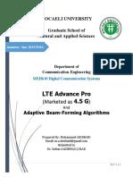ProjectReport - LTE AP 4.5G and AdaptiveBF - Mohammed ABUIBAID