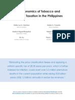 Tobacco Taxation