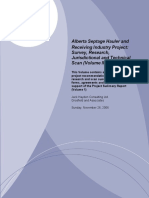 2006 - Alberta Septage Hauler and Receiving Industry Project - Survey, Research, Jurisdictional and Technical Scan.pdf