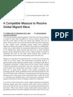 Overcoming Migrant Wave