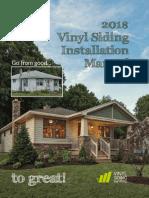 2018 Vinyl Siding Installation Manual
