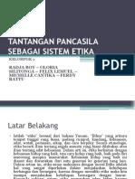 Tantangan Pancasila Sebagai Sistem Etika