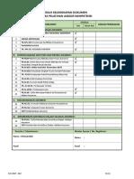 Ceklis Kelengkapan Dokumen 2019