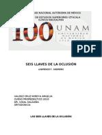 Seis Llaves Oclusion Dr. Vidal