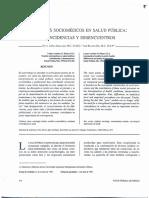 Modelos sociomédicos en salud pública. Coincidencias y desencuentros