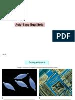 Acid Base Equilibria 1