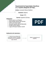 Determinación Experimental de Capacidades Caloríficas de Sólidos y Líquidos