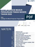 PPT Resmi Sistem Seleksi Masuk PTN Tahun 2020 v2
