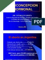 Anticoncepcion Hormonal 2005