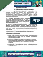 Actividad de Aprndizaje 9 Evidencia 1 Workshop Understanding the Distribution Center Layout R.G