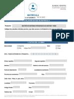 Formulario Máster en Sistemas Integrados de Gestión HSEQ BVCU