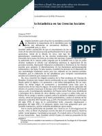 Historia de La Estadística en Las Ciencias Sociales